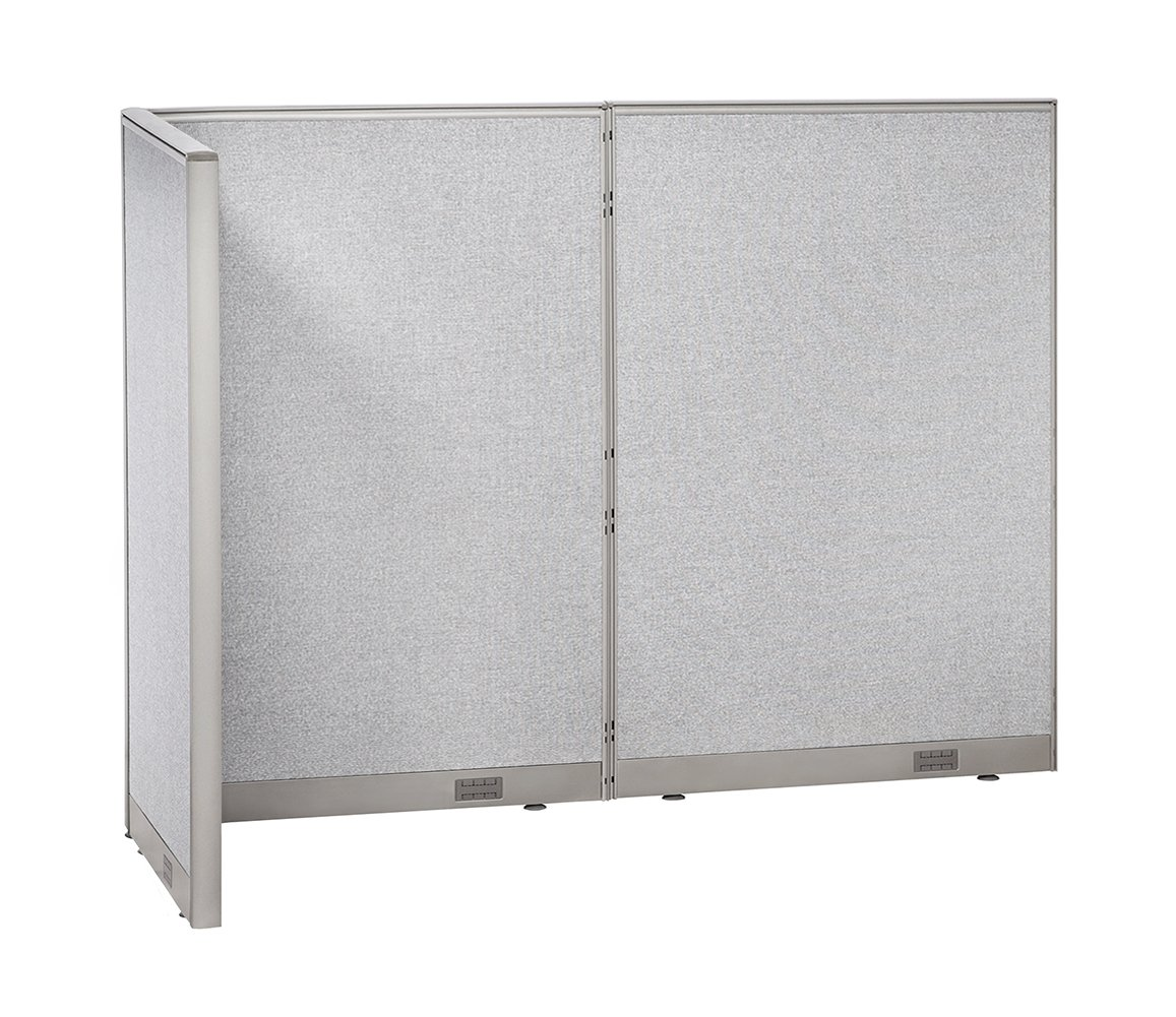 GOF Freestanding L Shaped Office Partition, Large Fabric Room Divider Panel, 36'' D x 96'' W x 72'' H by GOF
