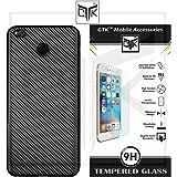 TheGiftKart Combo of Carbon Fibre Finish Soft Back Cover (Black) + HD Tempered Glass for Redmi 4