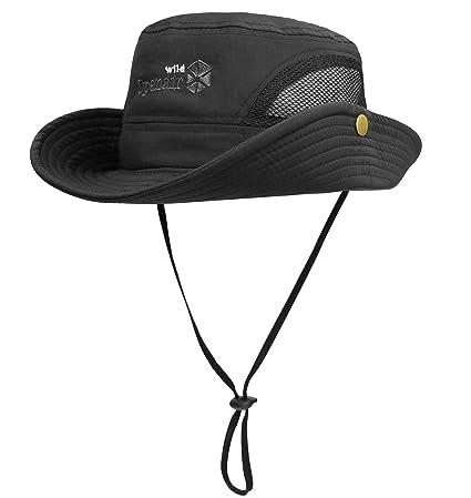 b1b9f51c Lamdgbway Quick-Dry Bucket Hats Unisex Summer UV Protection Safari Sun Hat  Fishing Hat Boonie