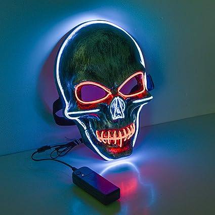 Charlemain Máscara de Luz LED, el Alambre Máscara de Payaso, Máscara Cosida para Festivales / Halloween / Navidad / Noche de Hogueras / Bolas de ...
