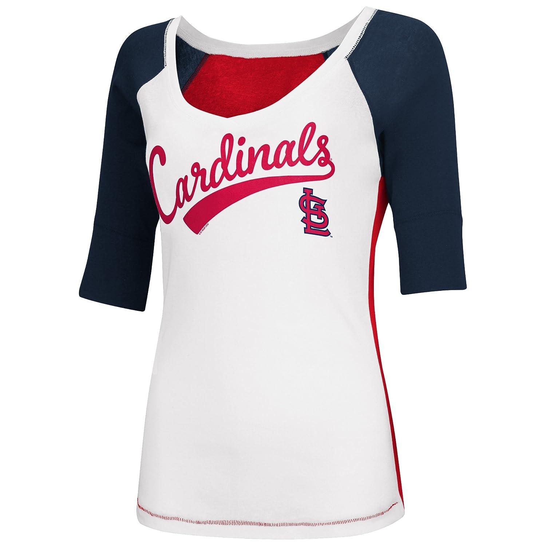 05f7f86a St Louis Cardinals Women's Home Run V-neck T-shirt