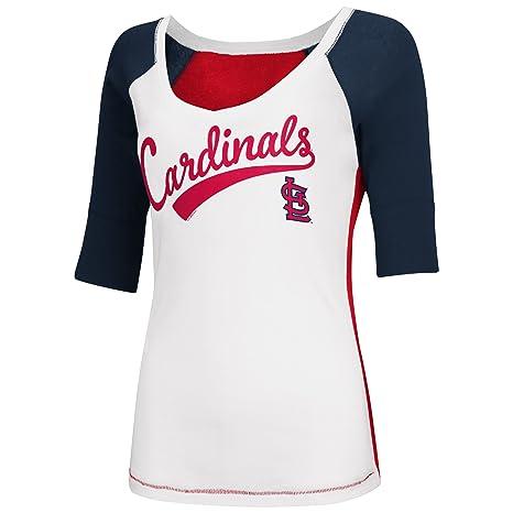 6f0051cff Amazon.com   St Louis Cardinals Women s Home Run V-neck T-shirt ...