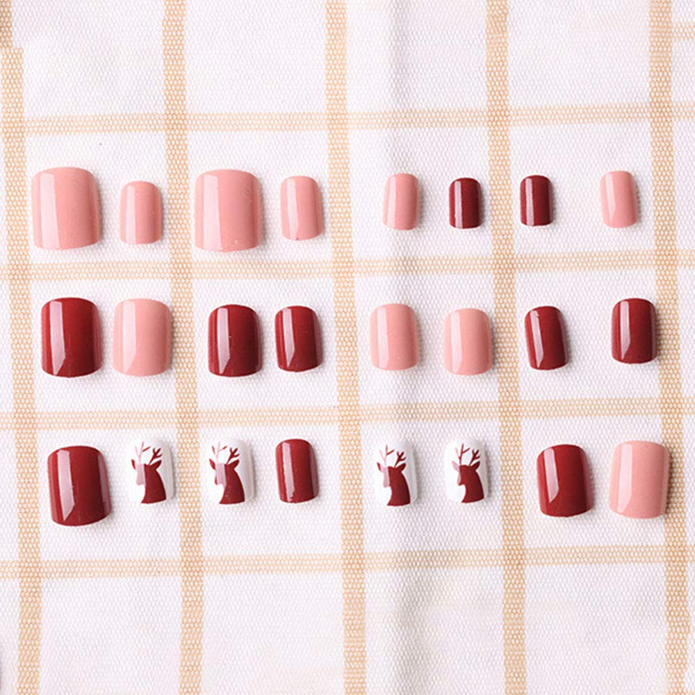 Amazon.com: 24 PCS Natural False Nails Kit, 12 Different Size French False Nails Patch Fashion Nail Tips Full Cover French Style DIY Fingernail Decorative: ...