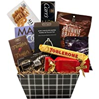 Stylish Gift Basket with Lindt, Toblerone & More