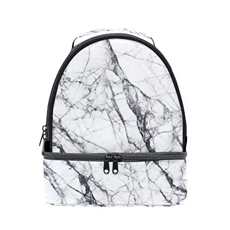 79d8c43d4257 Amazon.com: Insulated Lunch Bag Marble White for Women Kids Girls ...