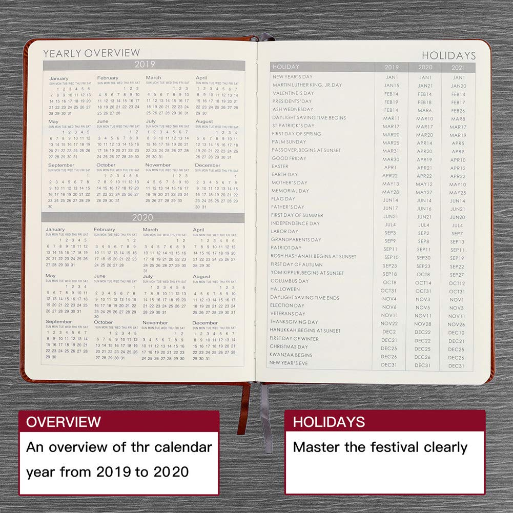 894865a86b824 Amazon.com   2019 Planner - Weekly   Monthly Planner with Calendar  Stickers