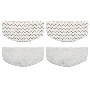 Flammi 4 Pack Replacement Steam Mop Pads Fits Bissell Powerfresh Steam Mop 1940 1440 1544 1806 2075 Series, Models 19402 19404 19408 1940A 1940Q 1940T 1940W
