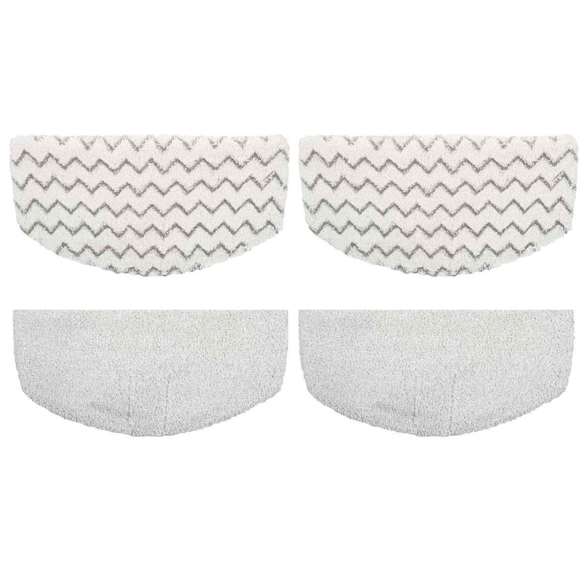 F Flammi 4 Pack Steam Mop Pads Replacement for Bissell Powerfresh Steam Mop 1940 1440 1544 Series, Model 19402 19404 19408 1940A 1940Q 1940T 1940W