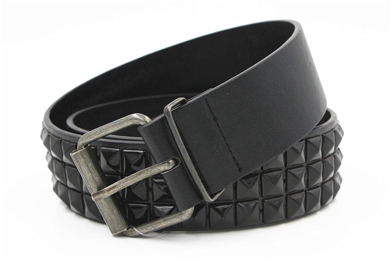 Remache Cintur/ón Hombres Mujeres Cintur/ón Tachonado Punk Rock Con Hebilla De Pasador