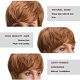 """TopWigy 10"""" 25CM Women Human Hair Wig Short Natural"""