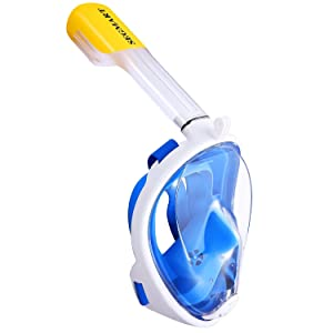 SEGMART 180° View Panoramic Snorkel Mask