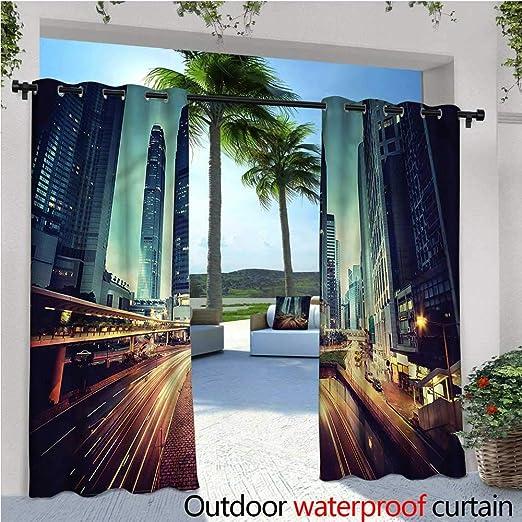 Warm Family Urban - Cortina de privacidad para pergola Sunny City Park en Denver, Aislante térmico, Repelente al Agua, para balcón: Amazon.es: Jardín