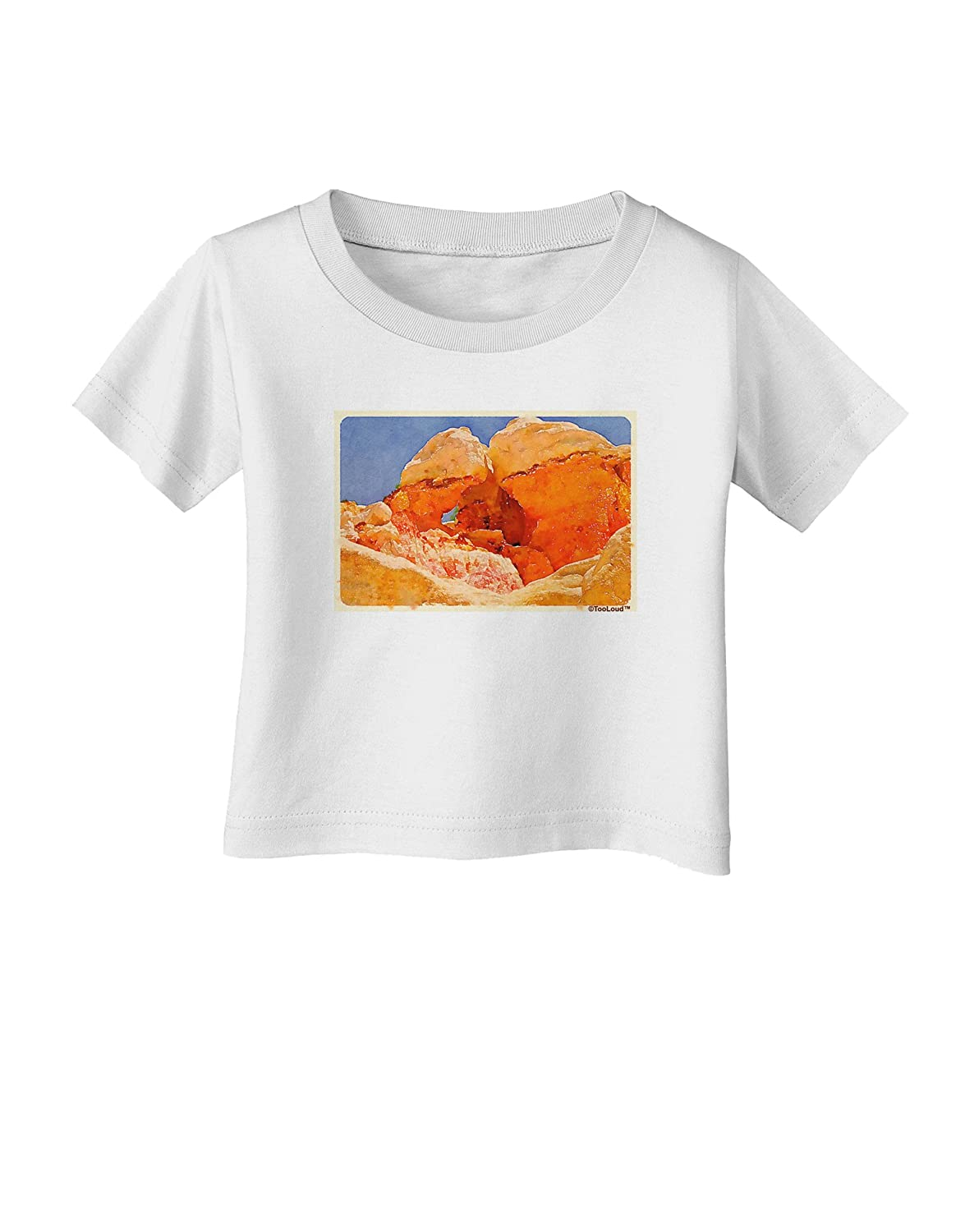 TooLoud Desert Landscape Watercolor Infant T-Shirt