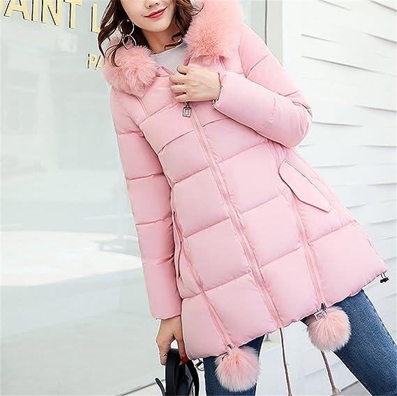 Dapengzhu Winter Jackets New Women Parka Jacket Female MediumLong Parka Fur Hood Coat Women Cotton Jacket Abrigos Mujer Large Size S XXXL Red XL at Amazon ...