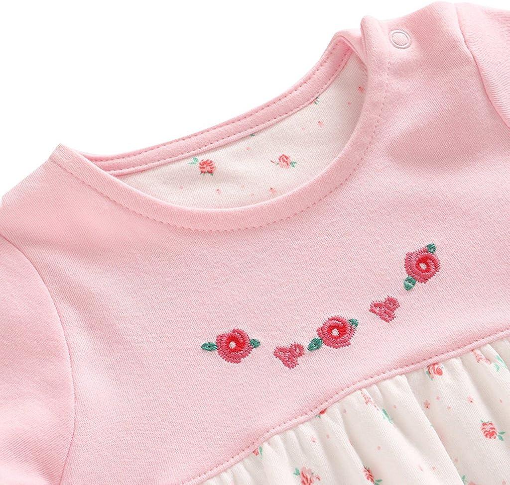 JiAmy Baby M/ädchen 3 St/ück Bekleidungsset Shorts Kurzarm-Kleid Stirnband Sommer Outfit Set f/ür 3-24 Monate