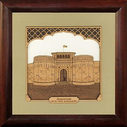 Buy Frames cottage Shaniwar Wada Wooden Photo Frames, Wall Frame ...