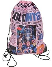FIORI PAOLO Gazzetta dello Sport Sacca, Poliestere, Rosa/Nero/Azzurro, 49 cm