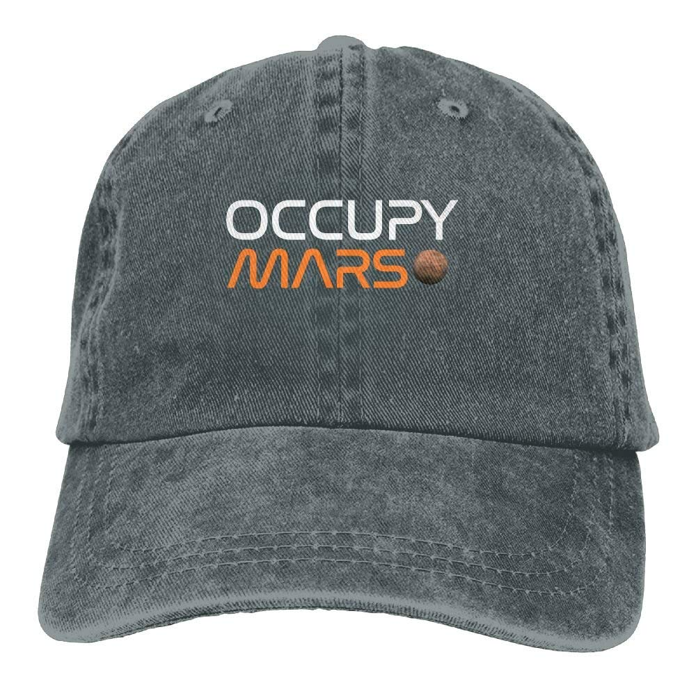 Occupy Mars Plain Adjustable Cowboy Cap Denim Hat for Women and Men