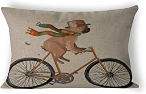 By Unbranded French Bulldog Gift Dog Lover GIF Couch Pillows Covers Cushion Case,Bed Chair,Home Decor Lumbar Pillowcase 12×20 inch