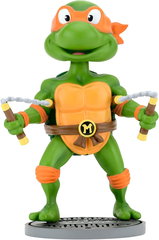 NECA Teenage Mutant Ninja Turtles (Classic) Head Knocker Michelangelo Toy Figure