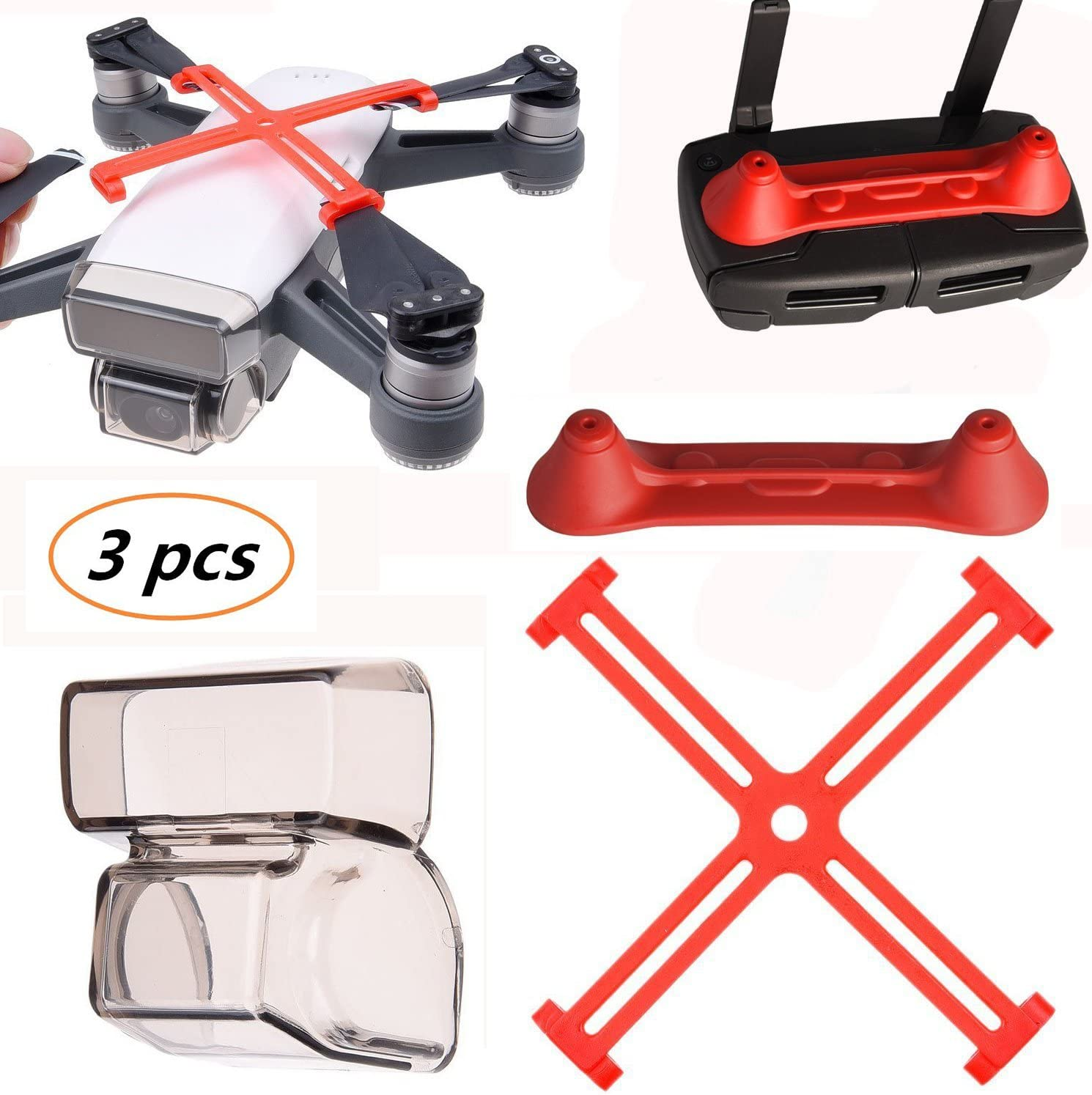 Kismaple Spark Protection Accessories Camera Lens Cap Cover+ Propellers...