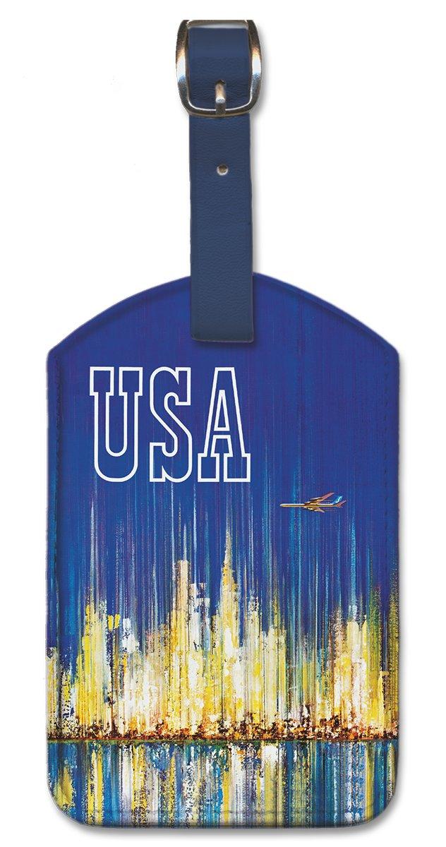Pacifica Island Art Leatherette Luggage Baggage Tag USA