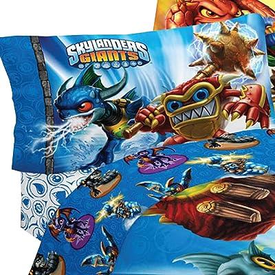 Skylanders Spyro Adventure Sky Friends 3pc Twin Bed Sheets: Home & Kitchen