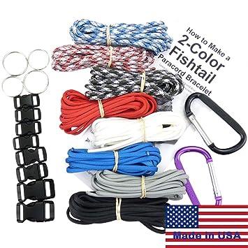 Pulsera Paracord de Supervivencia & Proyecto Kit. 550 Cable de paracaídas, hebillas Mosquetones,
