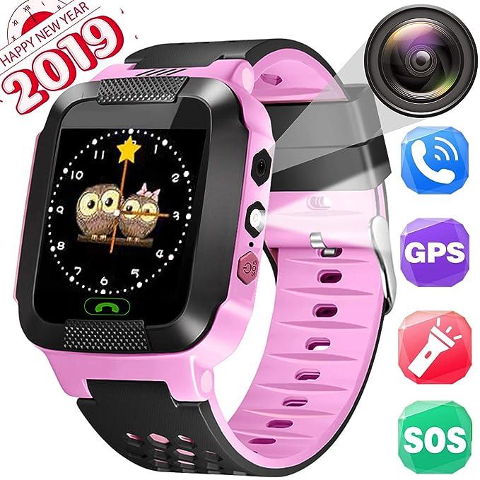 Reloj Inteligente Smartwatch para niños, rastreador de ubicación GPRS + LBS, reloj del teléfono, ...
