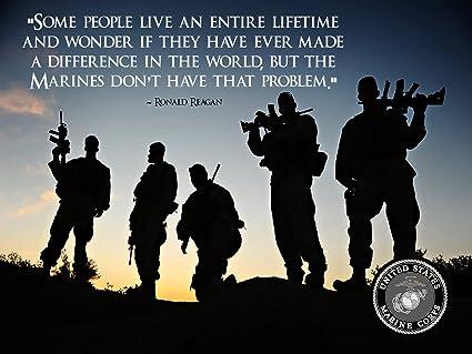 Amazon USMC Poster Marine Corps Poster Ronald Reagan Quote USMC Custom Marines Quotes