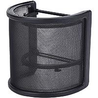 Pop Filter, 2020 Upgraded Microfoon Pop Filter Metalen Mesh en Foam Layer Handheld Microfoon Pop Filter Voorruit Cover…
