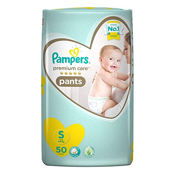 Pampers Premium Care Pants Diapers, Small (50 Count)