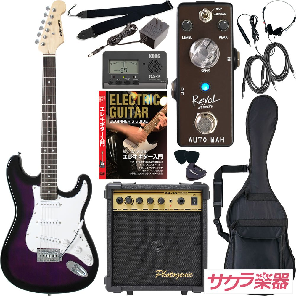 SELDER セルダー エレキギター ストラトキャスタータイプ ST-16/PPS サクラ楽器オリジナル Revol effectsエフェクター入門セット 【オートワウ AUTO WAH/EWA-01】 B076JBCY84 PPS PPS