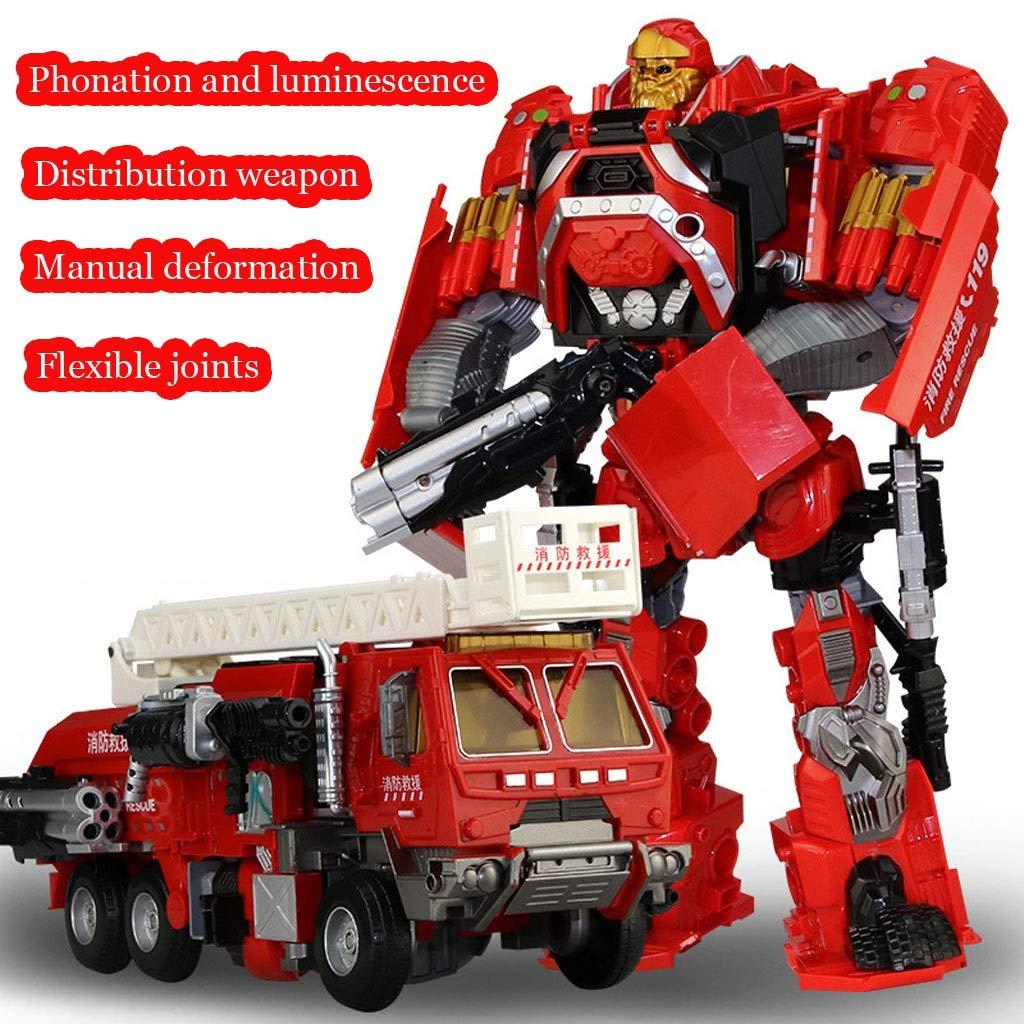 LIRIDP 変形ロボット 子供の変身玩具キングコングロボットTianhuo Ares変換玩具ロボットアクションダイアグラム、ライトと音、少年ギフトセット アクションマップ車両 B07R3CFVB4