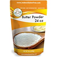 Judee's Butter Powder 24 oz (11.25 oz also) 100% Real Butter, Low Carb Keto Friendly, NonGMO, rBST Hormone Free, Gluten and Nut Free Facility, USA Made, Add Fat to Coffee, Baking Ready