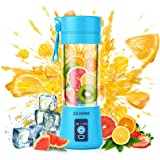 Portable Blender,Zjj-Home Smoothie Blender-Six Blades in 3D, Mini Travel Personal Blender with USB Rechargeable…
