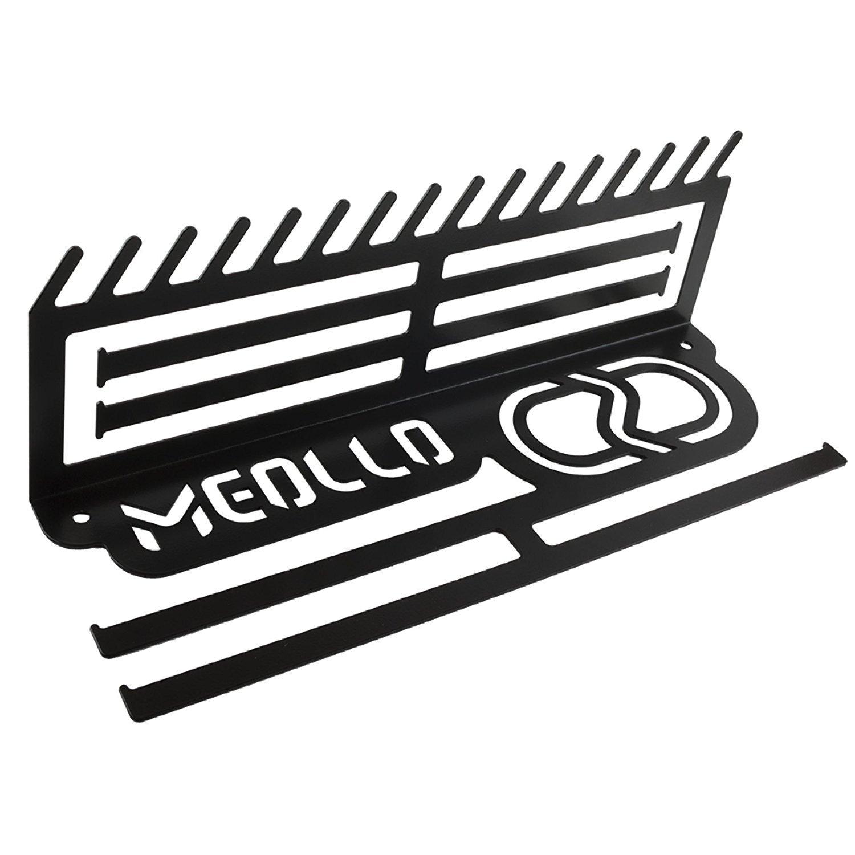 MEOLLO Medallero Colgador de medallas y dorsales (100% Acero) - Fabricado en España