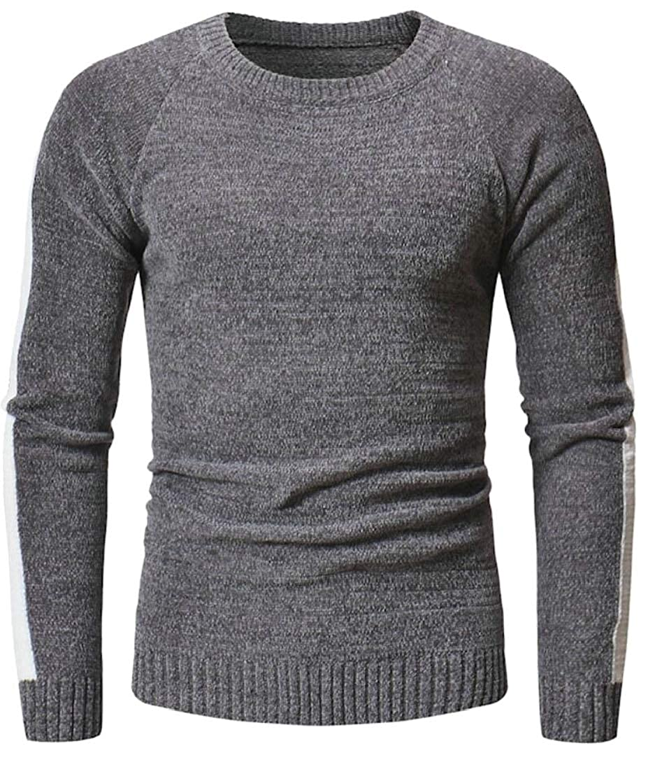 Generic Mens Crewneck Leisure Fall Knitwear Slim Fit Knitting Pullover Sweaters