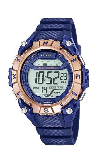 Calypso Reloj Digital para Hombre de Cuarzo con Correa en Plástico K5683/7: Calypso: Amazon.es: Relojes