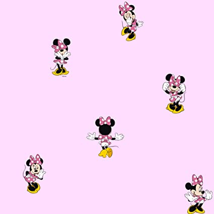 Galerie Official Disney Minnie Mouse Childrens Bedroom Washable Wallpaper Pink MN3002 2