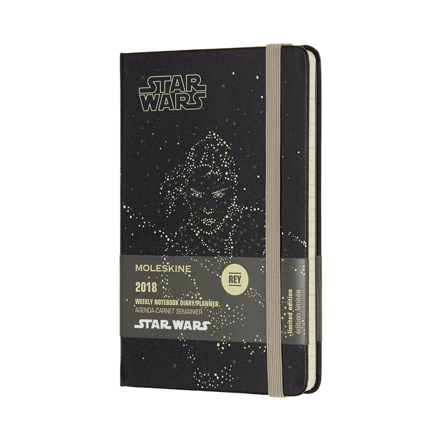 Moleskine Limited Edition Star Wars, 12 Month Weekly Planner, Pocket, Rey (3.5 x 5.5)