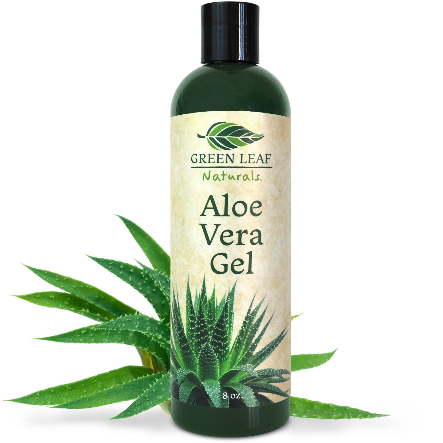 Green Leaf Naturals Organic Aloe Vera Gel, Pure Daily Moisturizer for Skin, Face and Hair