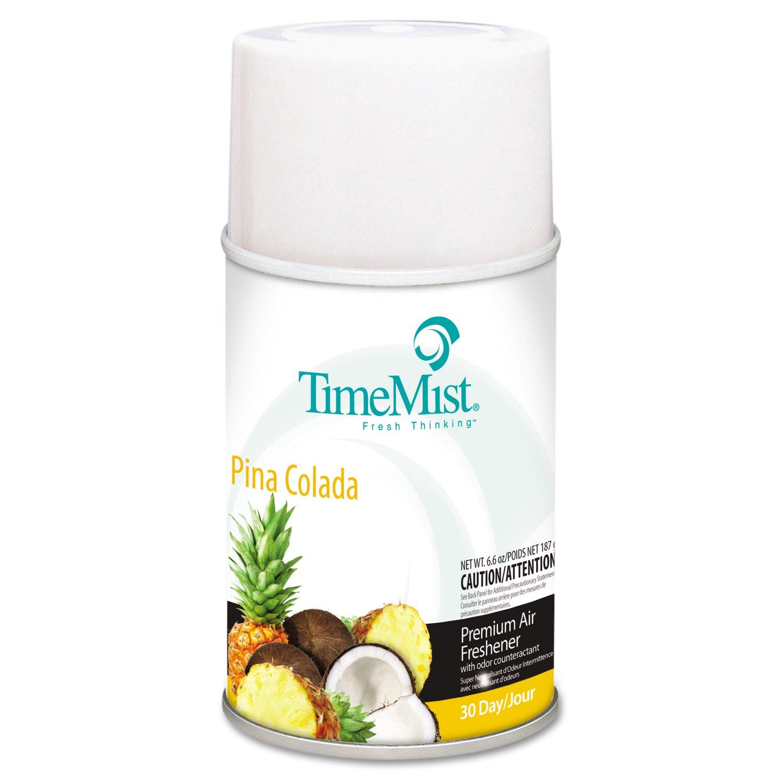 TimeMist TMS 2513 Metered Fragrance Odor Eliminators Dispenser Refills, Piña Colada, 5.3 oz. (Pack of 12) by Timemist (Image #1)