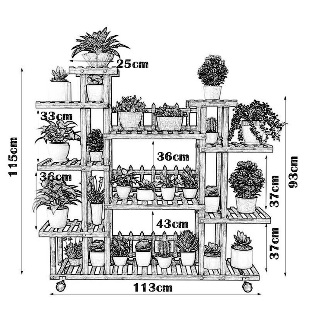 Amazon.com: Estantería de flores de 7 niveles con estante de ...