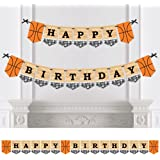 Nothin' But Net - Basketball - Birthday Party Bunting Banner - Sports Party Decorations - Happy Birthday