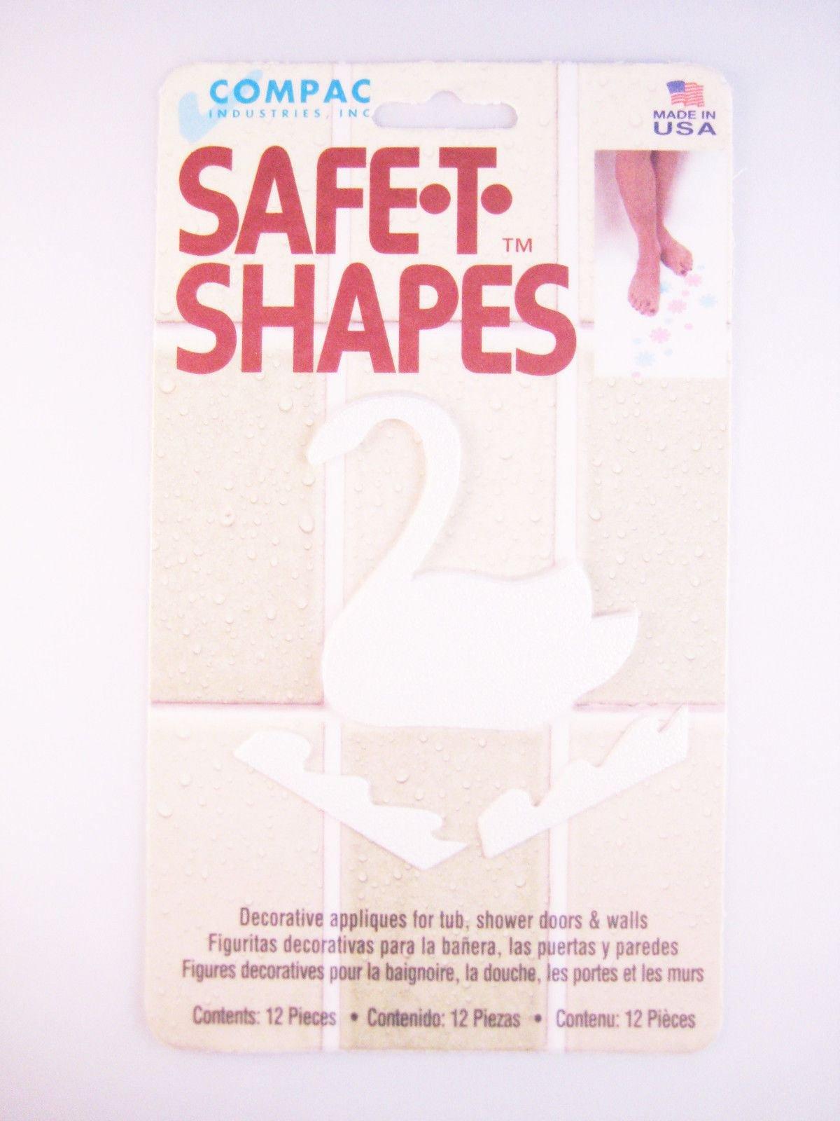 (White Swan) Safe-t-shapes Safety Applique Anti-slip Bath Tub Shower Sticker
