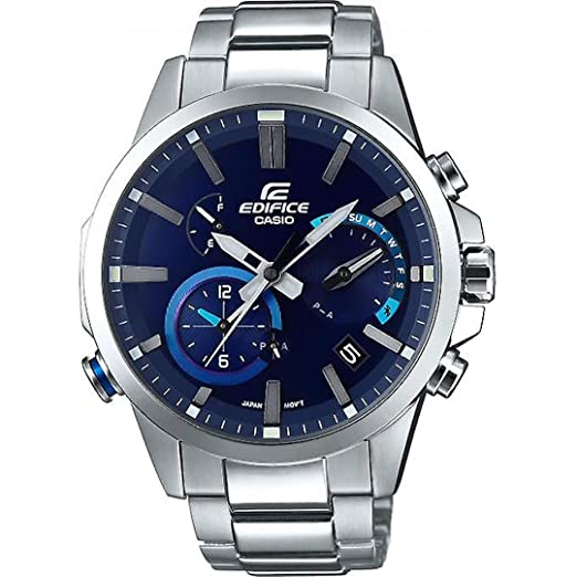 Casio Mens EQB-700D-2A Edifice Bluetooth Solar Powered Alarm Watch