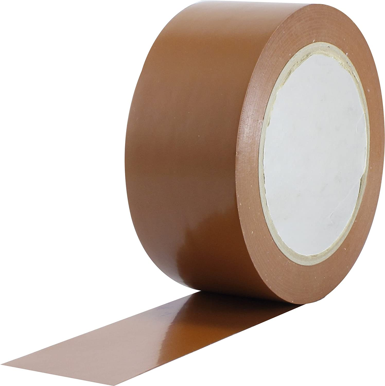 ProTapes Pro 50 Premium Vinyl Safety Marking and Dance Floor Splicing Tape, 6 Mils Thick, 36 Yds Length X 1' Width, Brown (Pack of 1) 36 Yds Length X 1 Width ProTapes & Specialties 50-6-1x36-BR
