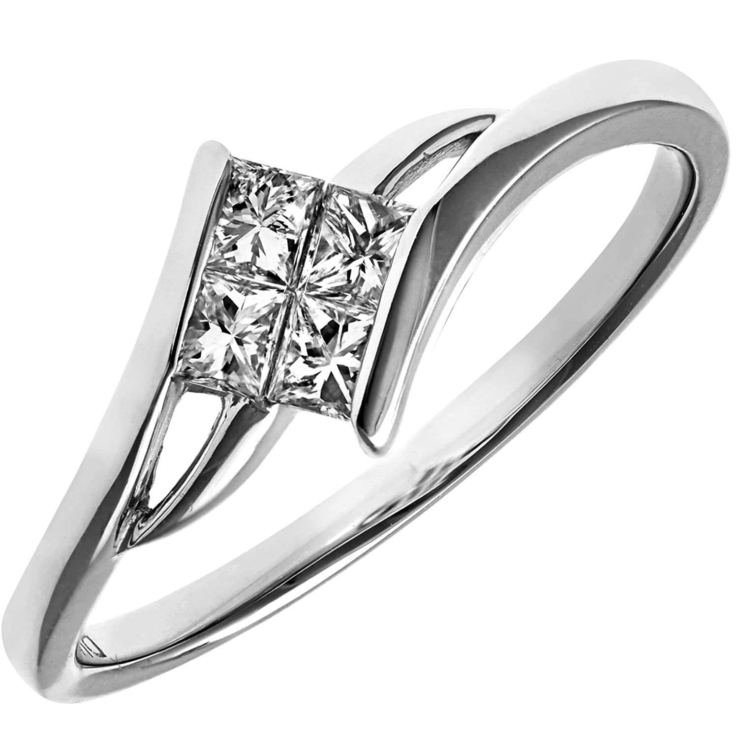 naava 18ct white gold solitaire look crossover engagement ring ij