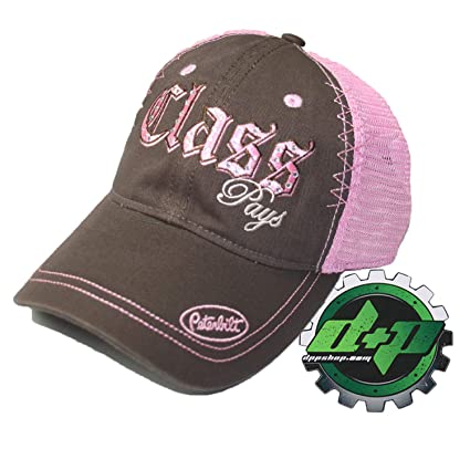 f1710381cae Image Unavailable. Image not available for. Color  Peterbilt Ball Cap  Trucker hat Class Pays Bling Ladies mesh Back cat Diesel Gear